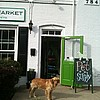 Chester the lead sales-dog at Green Dog Market!