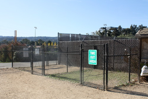 Dog Park Time out area