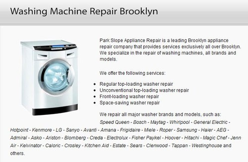 Washing Machine Repair Brooklyn