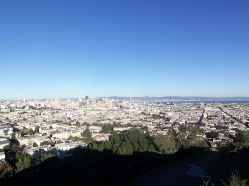 View from the top of Corona Heights Park