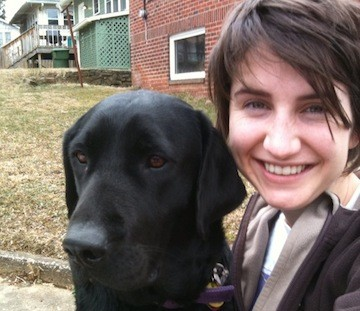 Owner/Operator, Karen, with her lab, Rosie