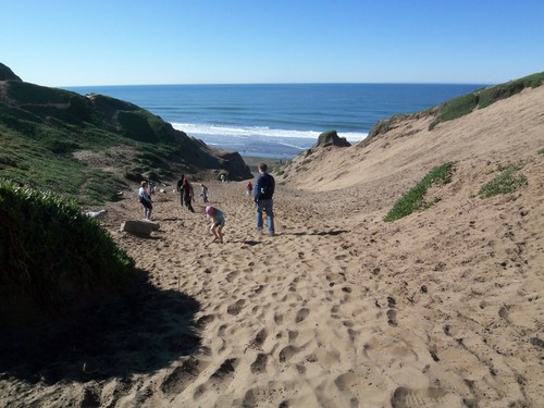 Going down to the beach at Fort Funston