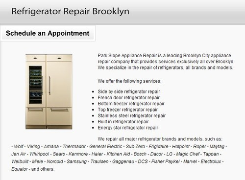 Refrigerator Repair Brooklyn