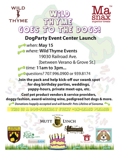 May 15 DogParty Event Info