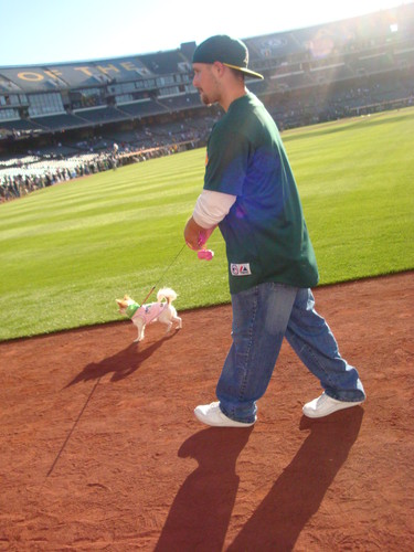 Rox n Dad on field:)